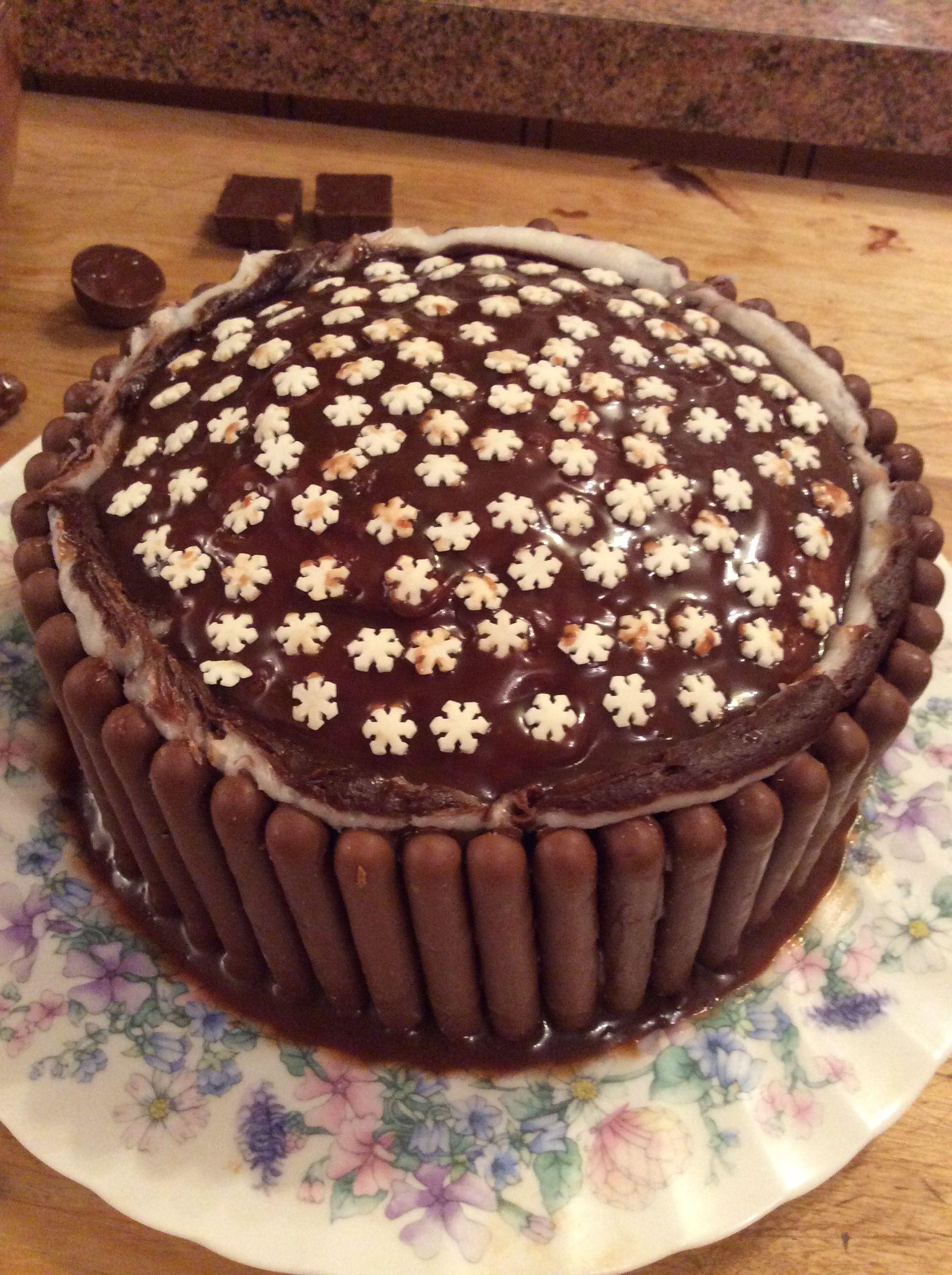 Most with chocolate ganache