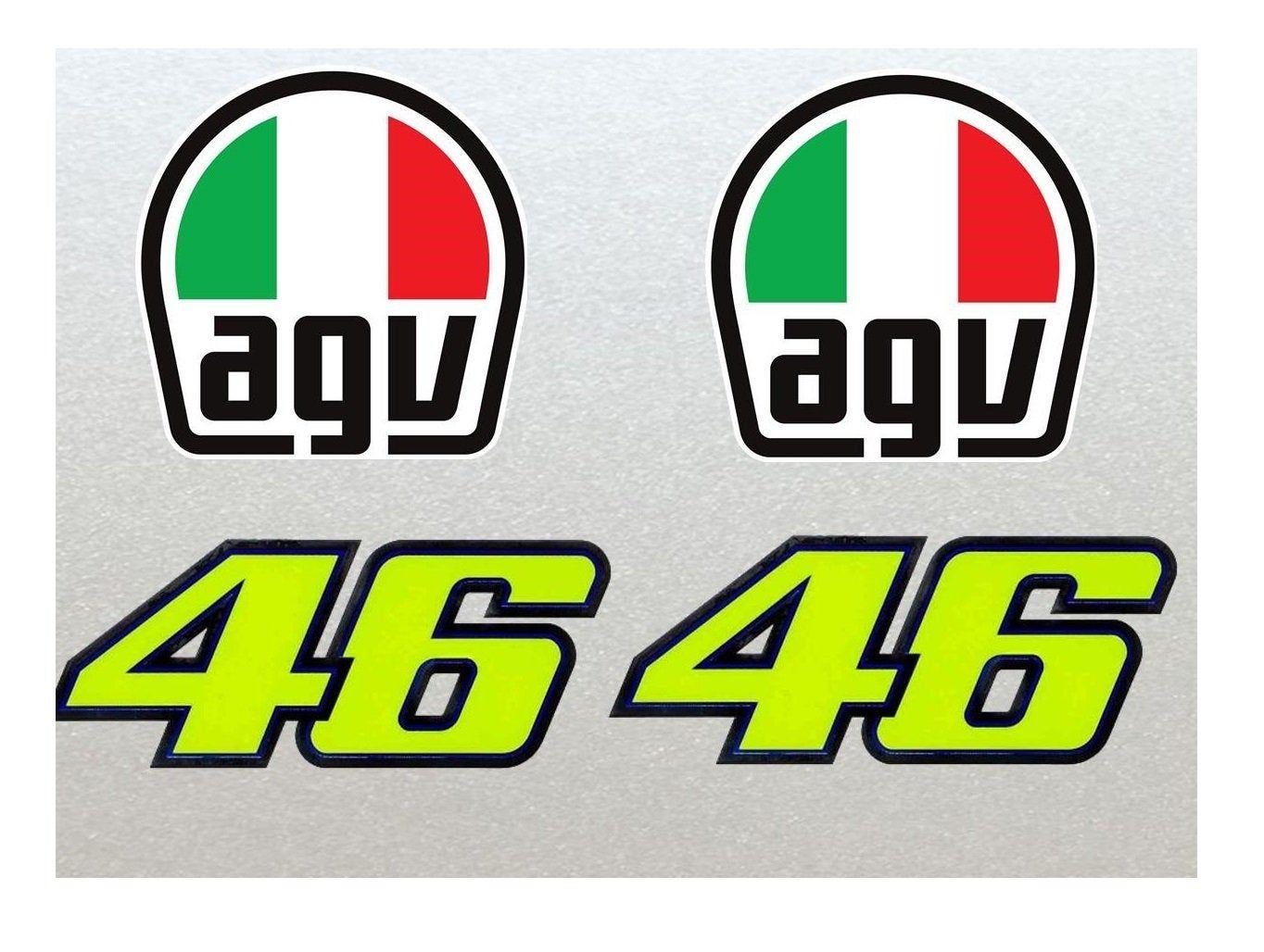Helmet Helmet Valentino Rossi Helmet Stickers 46