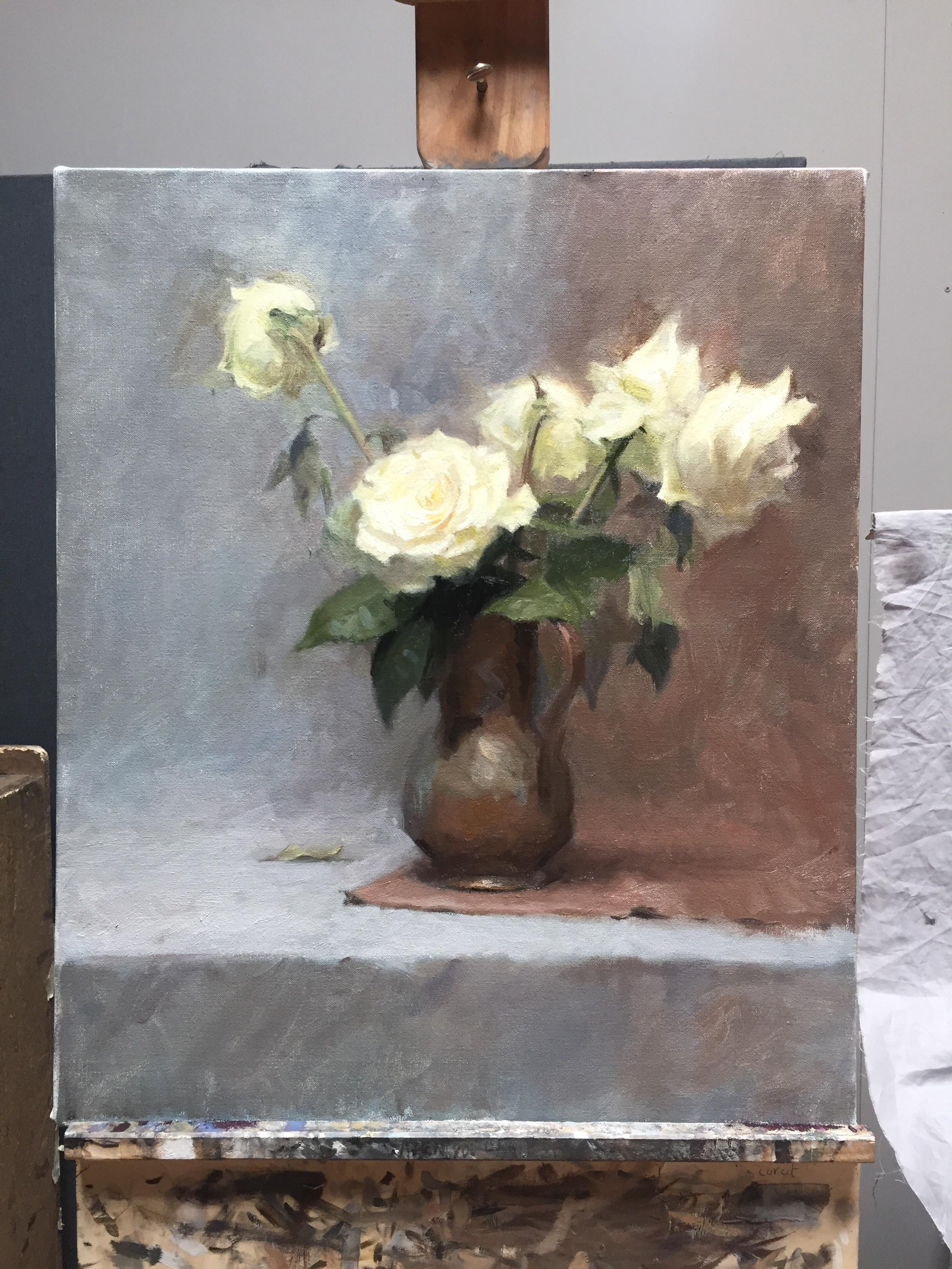 White roses oil on canvas 50x60cm art pinterest white roses white roses oil on canvas 50x60cm mightylinksfo