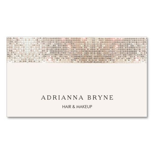 Stylish Faux Sequin Beauty and Fashion Salon Pack Of Standard Business Cards