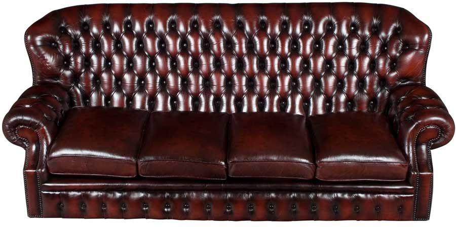 Vintage Oxblood Leather Three Seat Chesterfield Sofa Red Leather Sofa Oxblood Leather Chesterfield Sofa