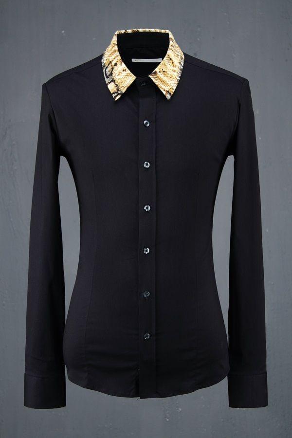 Python Collar Stylish Slim Fit Shirts.