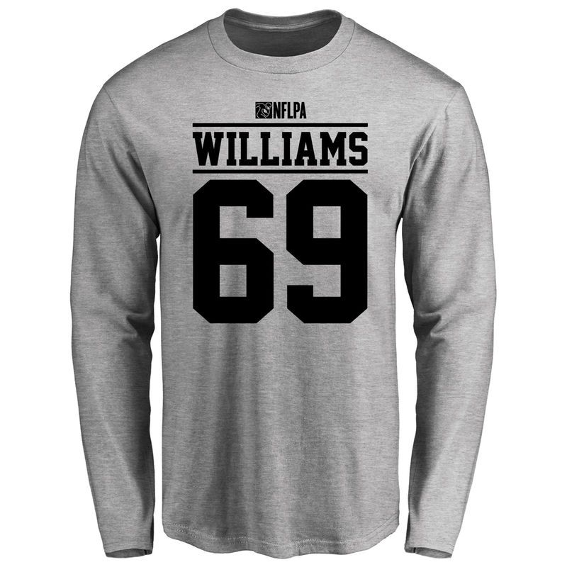 differently 3b7e1 b9e3f DeShawn Williams Player Issued Long Sleeve T-Shirt - Ash ...