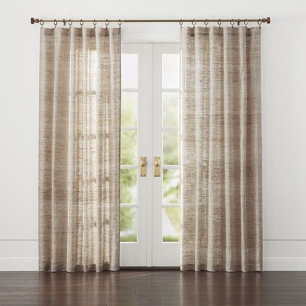 Hayden 48 X96 Silk Curtain Panel Liked On Polyvore Featuring Home Home Decor Window Treatments Cur Panel Curtains Curtains For Closet Doors Silk Curtains