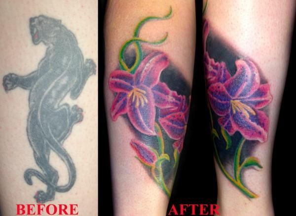 Cover up black tattoos before and after google search for Dark tattoo cover up