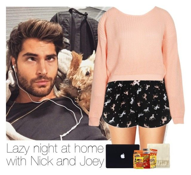 """""""Lazy night at home with Nick and Joey"""" by laura-mayne ❤ liked on Polyvore featuring Forever 21, Accessorize, Boohoo, women's clothing, women's fashion, women, female, woman, misses and juniors"""