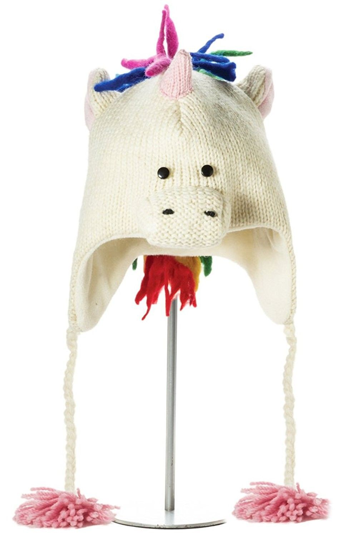 Knit Wits Winter Kids Unicorn Wool Fleece Lined Hat Boys- Girls -  C111GOTFB0H - Hats   Caps 3dfd1cfcff9
