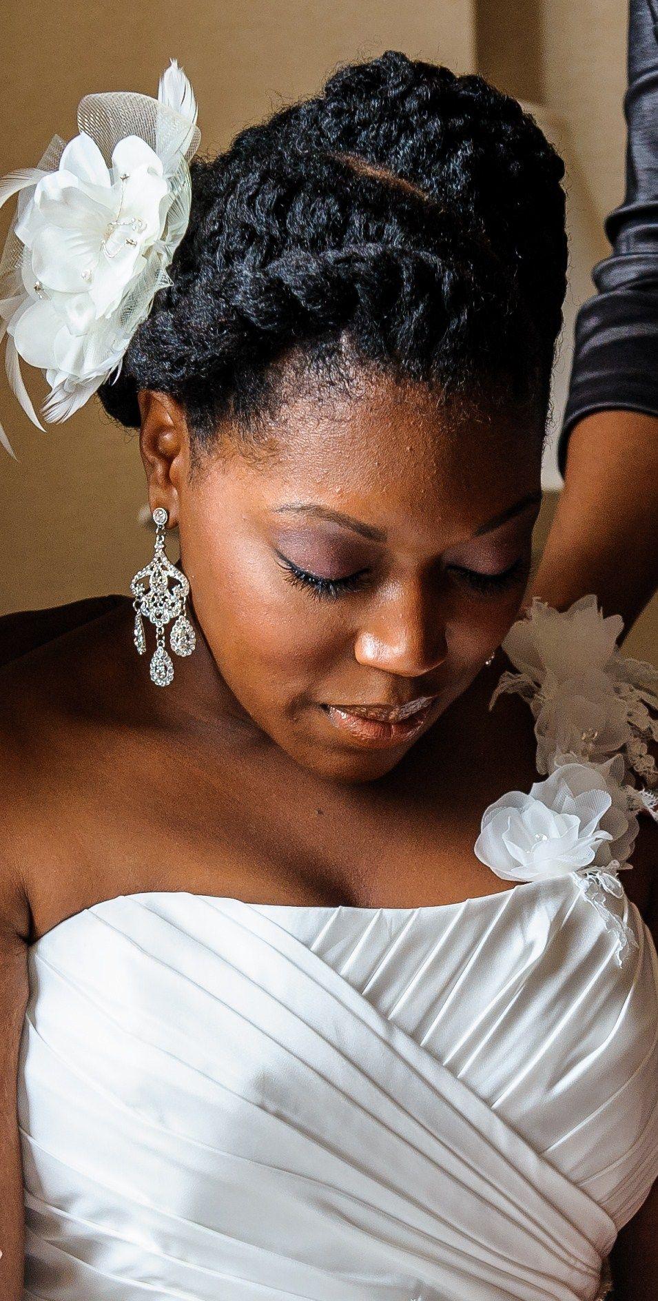 bride #naturalhair #updo international natural hair meetup