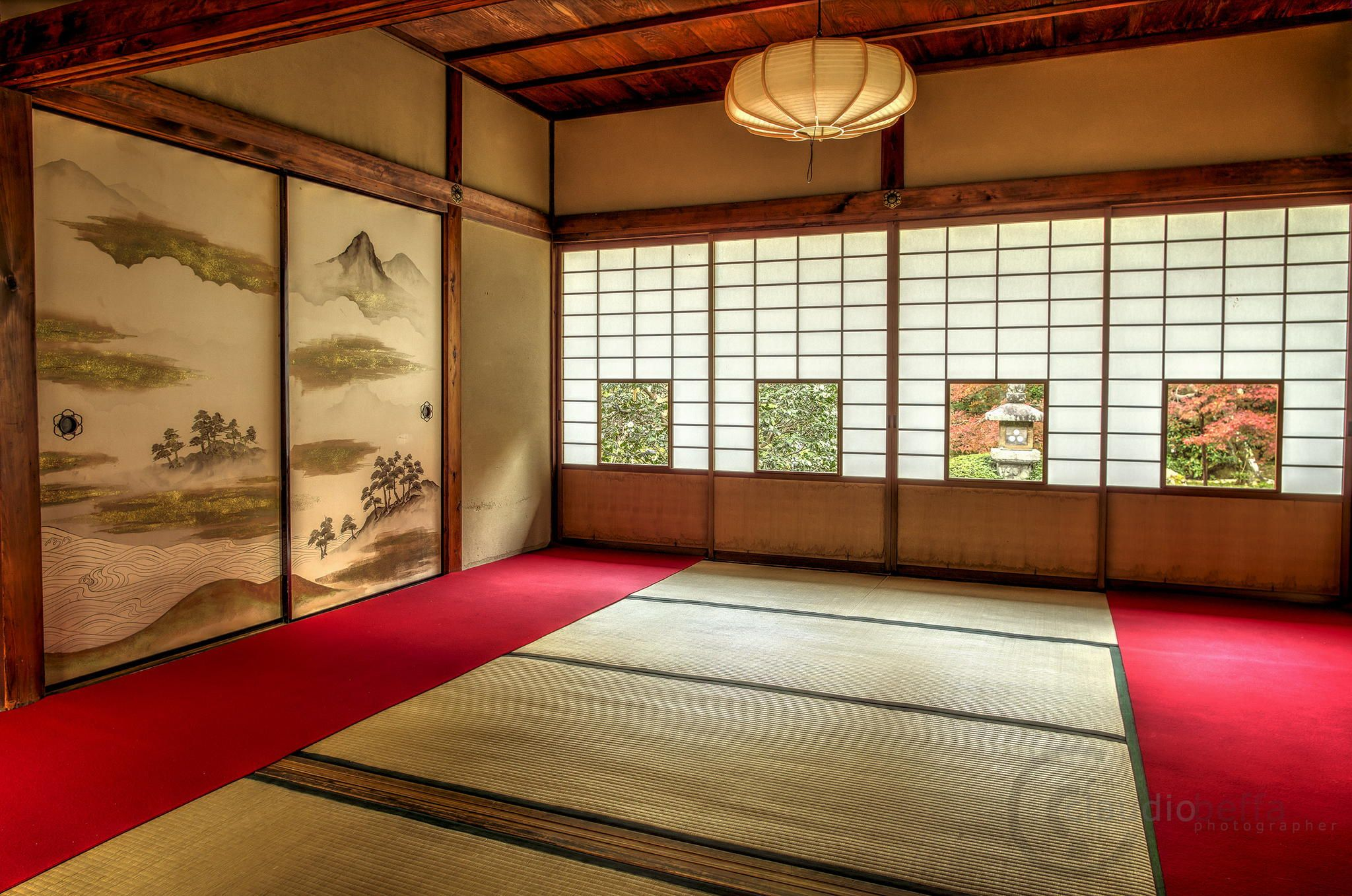 """""""Room of the four shoji"""" at Unryuin, Kyoto. www.phoclab.com by Claudio Beffa"""
