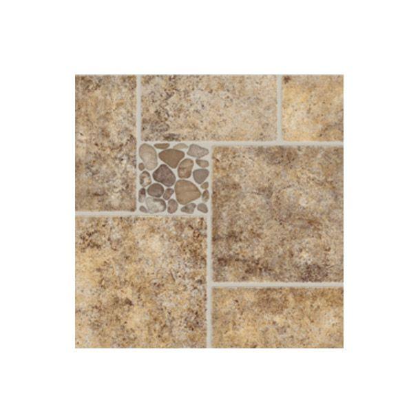 piso cermico en forma de cuadros y rectngulos con simulacin pedazos de piedra para fachada