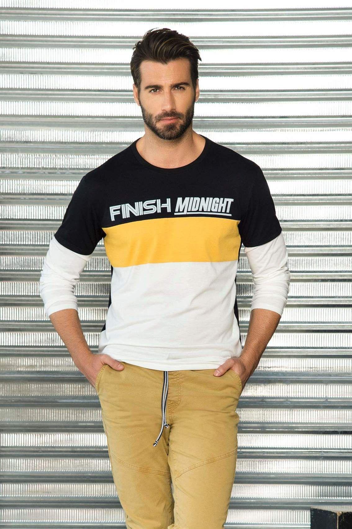 9bc3495981 Camiseta Manga Larga Cuello Redondo Único para Hombre. Descubre más tallas  y colores en pacifika.com - P536968