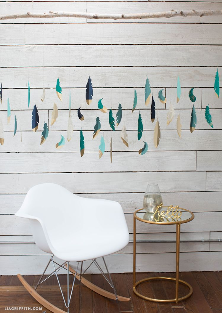 Decorate with paper paper feathers feather wall art and feathers