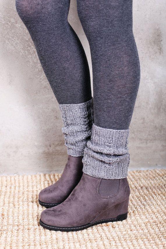 Knitted Leg Warmers Boot Socks Knitted Boot Cuffs Knit Leg | Crochet ...