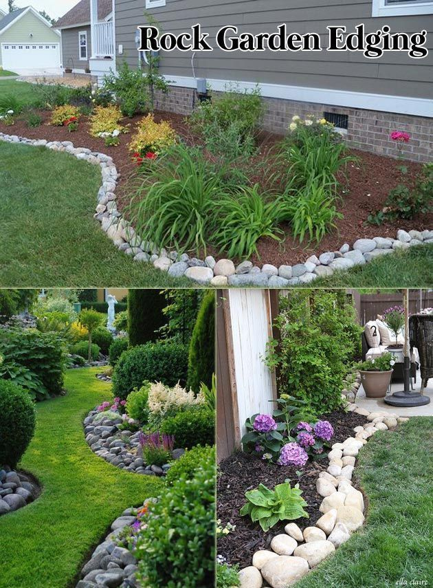 Beautiful Rock Garden Landscaping Curb Appeal Dream Houses Create Awesome Garden Edging to Im...