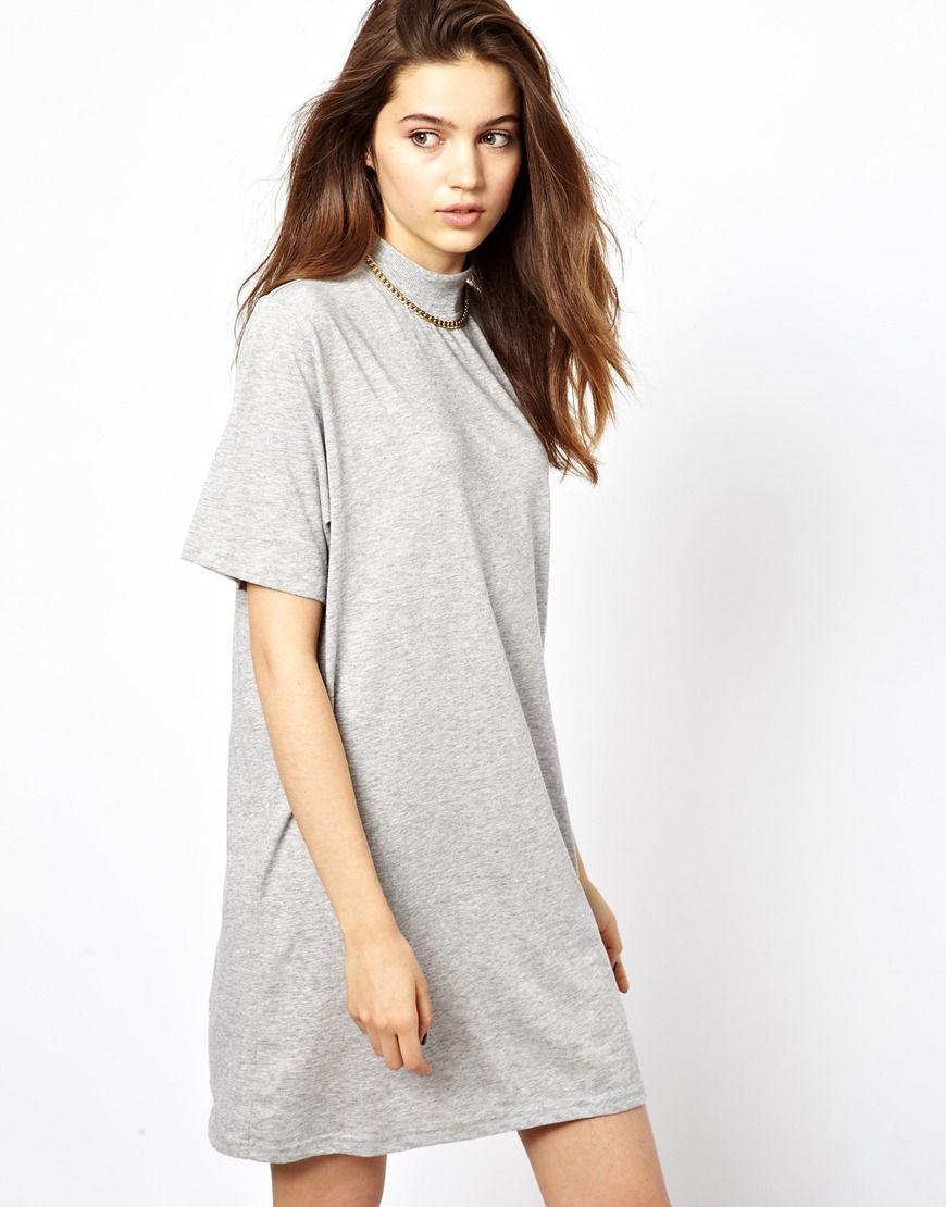 e1f663a01782 Cheap Monday T-Shirt Dress With Roll Neck Cheap T Shirt Dresses, Roll Neck