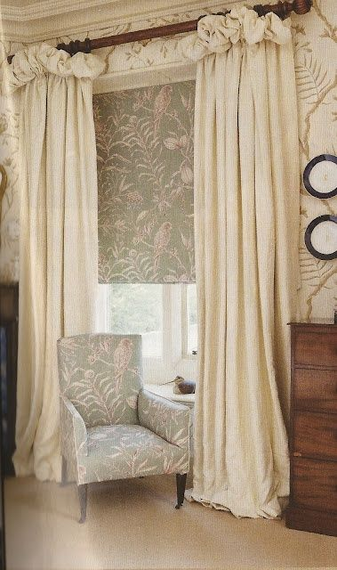 Farmhouse Bedroom Window Treatments French Country