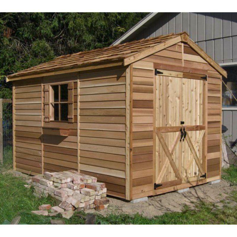 cedar shed 8 x 12 ft rancher storage shed r812