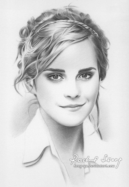 Emma watson celebrity drawing art celebrity drawings pencil