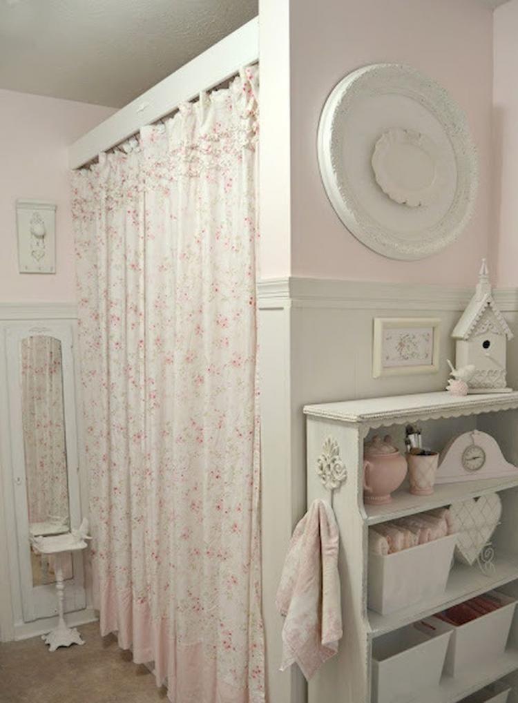 30+ DIY Shabby Chic Bathroom Decoration Inspirations ROMANTIC