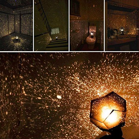KOBWA Romantische Stern-Nachtlichter DIY Projektor-Nachtlampe