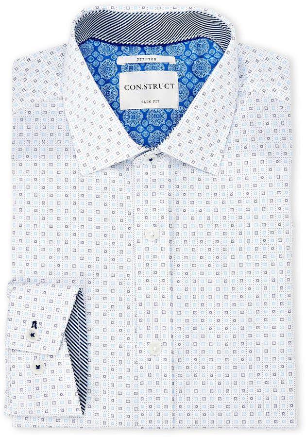English Laundry Con Struct Star Print Stretch Slim Fit Dress Shirt Slim Fit Dress Shirts Shirts