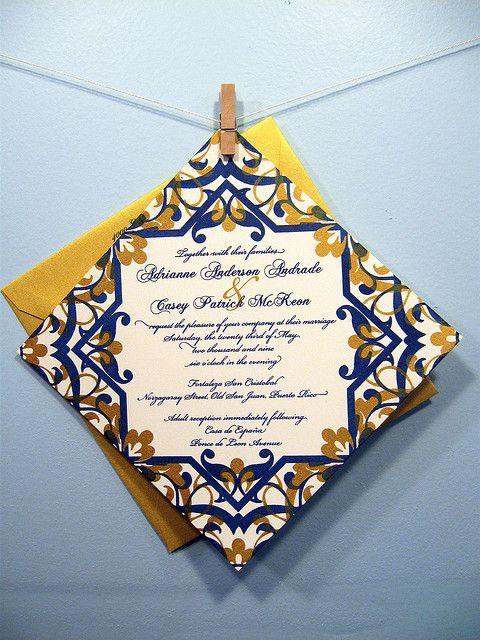 Adrianne Casey S Spanish Tile Invitations By Heatherjeany Via