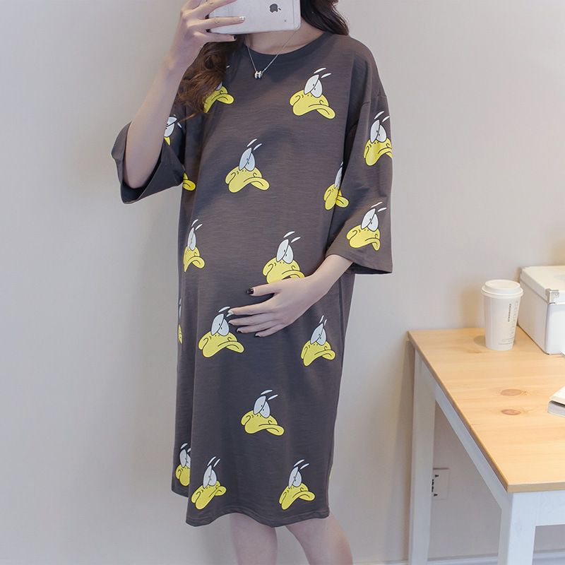Korean Version Of Loose Maternity Short Sleeved Summer Dress Maternity Large S Ropa Moderna Para Embarazadas Ropa Para Embarazadas Ropa Bonita Para Embarazadas
