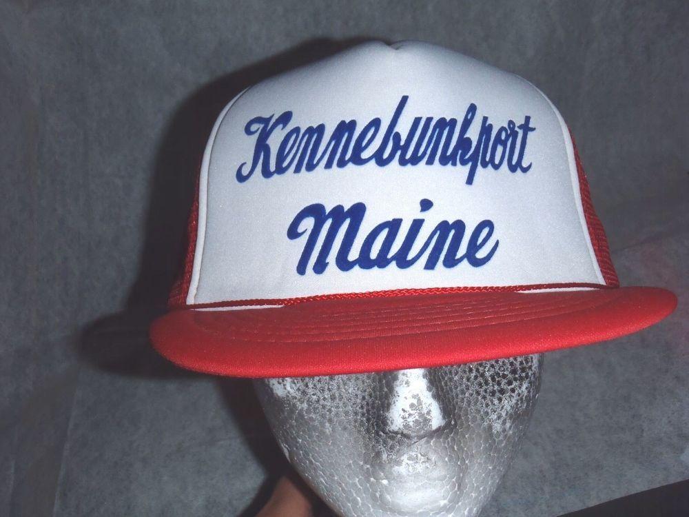 VTG Kennebunkport Maine Snapback Mesh Trucker Hat Cap 70 s 80 s  Trucker d8c2251edbd9