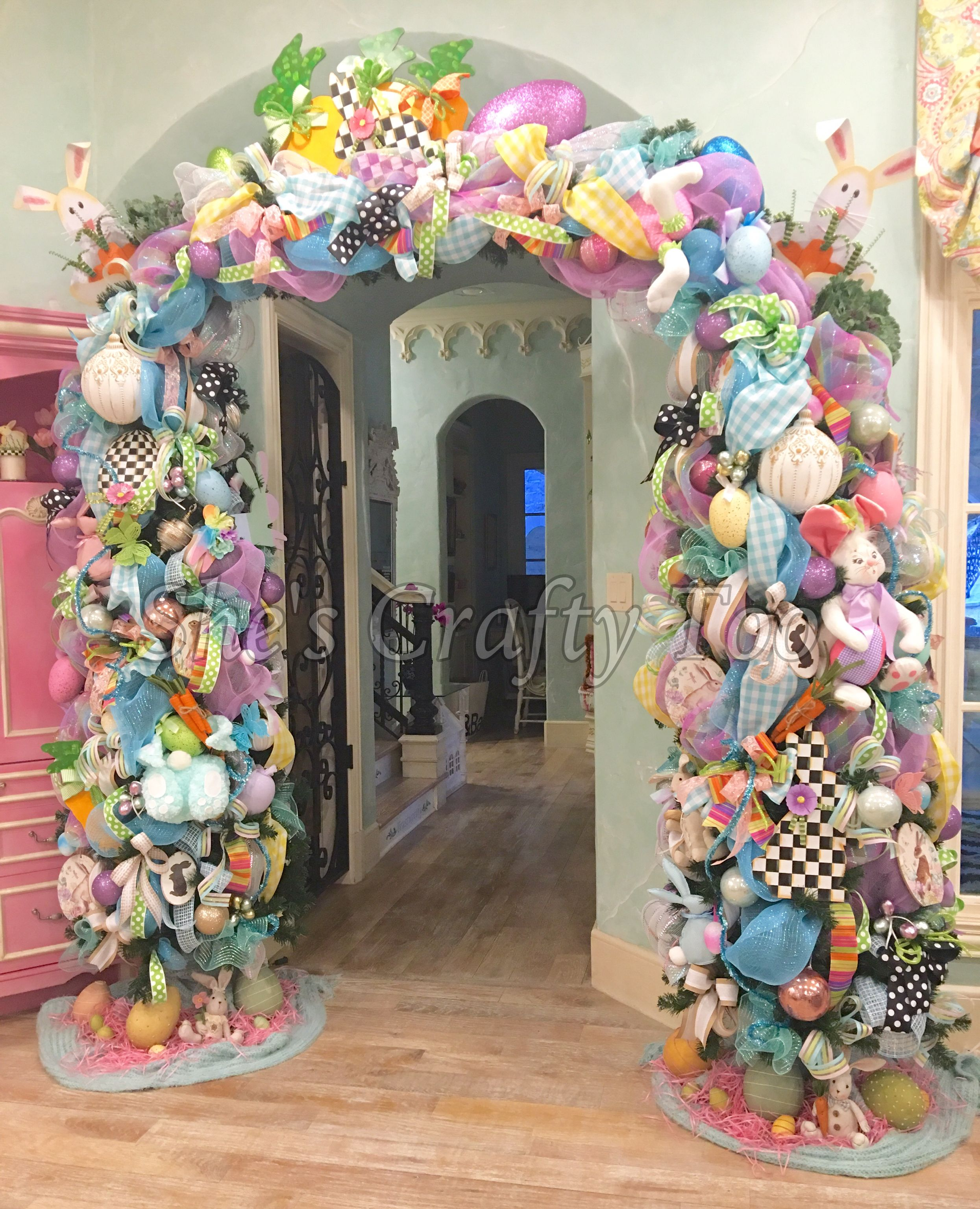 Easter arch by she s crafty too at turtle creek lane