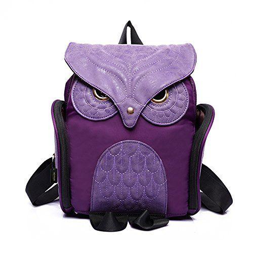 HEYFAIR Women Cute Owl Backpack Purse Casual School College ...