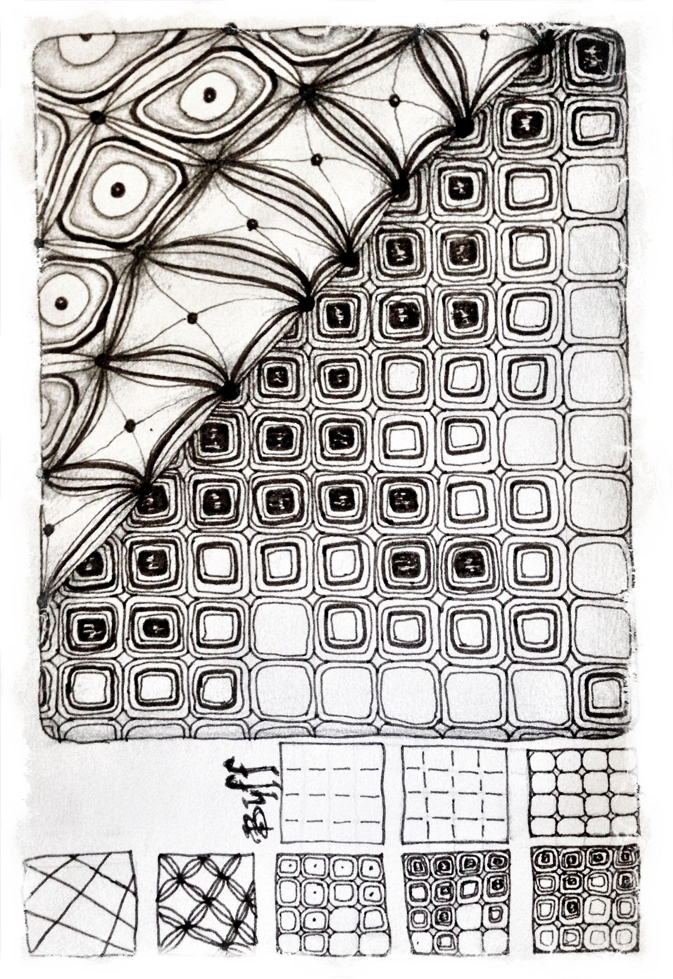 Bales and my pattern Buff