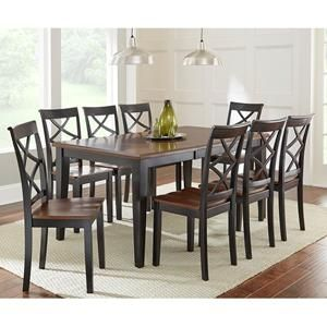 Sofa Mart Dining Tables Marrom Escuro Com Almofadas Coloridas Rani 7 Piece Set Nebraska Furniture Kitchen