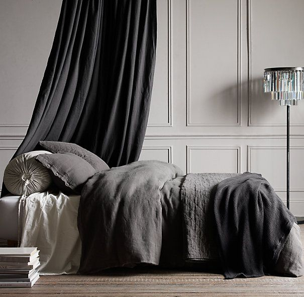 Bedroom Sets Restoration Hardware garment-dyed textured linen bedding collection (restoration