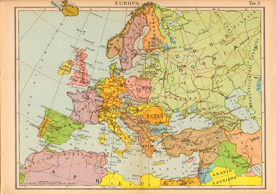 europe 1940 #europe #1940s #maps | 1940s Europe | Map, Vintage world ...