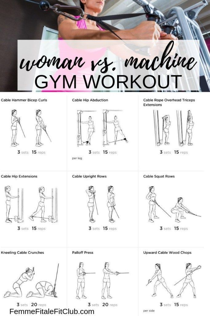 Woman vs. Cable Machine Gym Workout