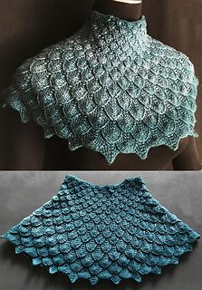 Photo of Moon Dragon Capelet pattern by Lavish Craft