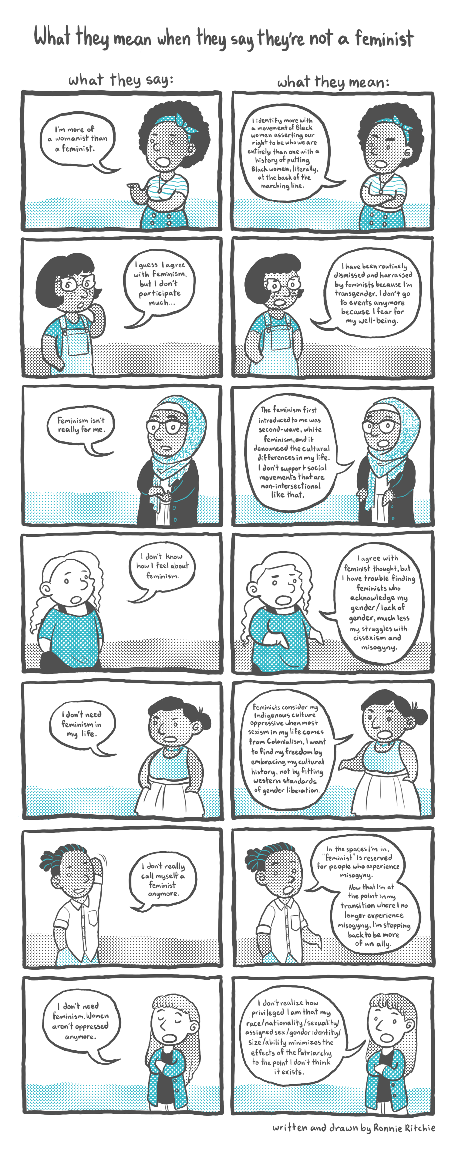 What they may mean when they say they're not feminist  comic