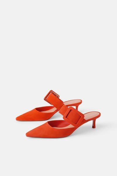 Leather Heeled Mules With Buckle Leather Heels Heeled Mules Heels