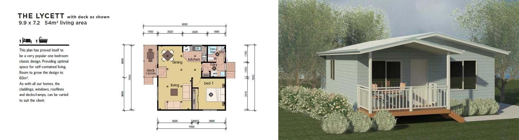 Modular Home The Lycett 1 Bedroom Granny Flat
