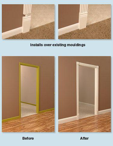 RapidFit moulding (crown, base, door frame). Goes over existing ...