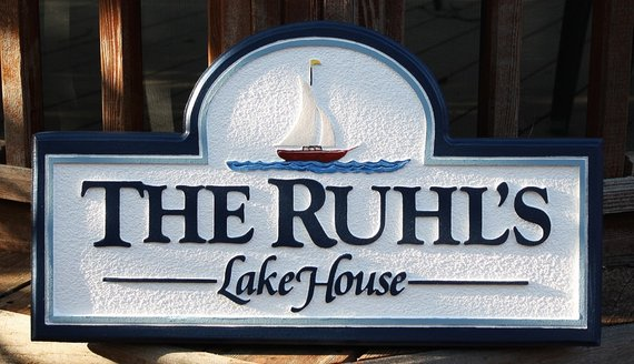 Custom Lake House Sign Signs Outdoor Personal Name Beach C