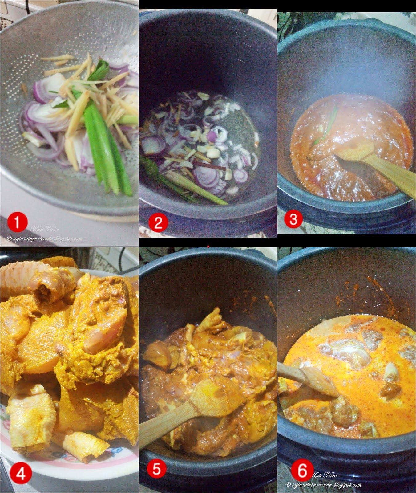 Resepi Periuk Noa Kari Ayam Dengan