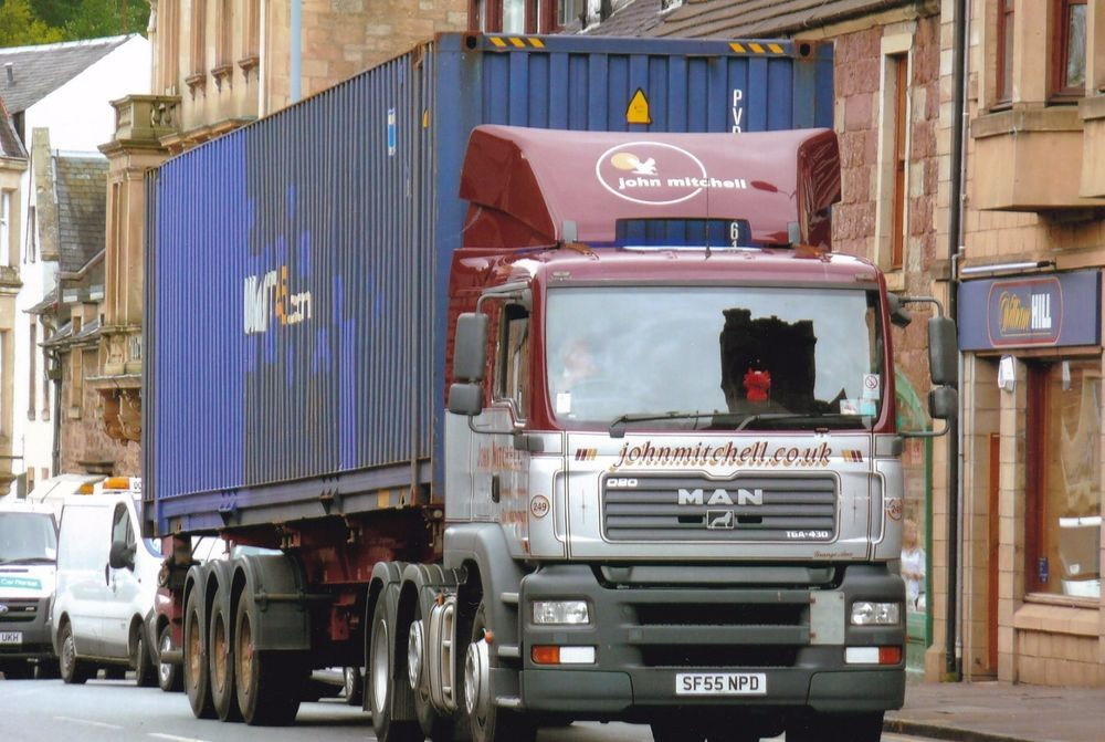 Col Photo John Mitchell Grangemouth Man Artic Container Trailer Sf55 Npd Notapplicable Big Trucks Trucks Photo