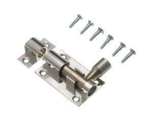 Door Bolt Barrel Slide Lock 38mm 1 1 2 Inch Chrome With Screws By Onestopdiy 2 67 Bathroom Door Locks Home Hardware Door Locks