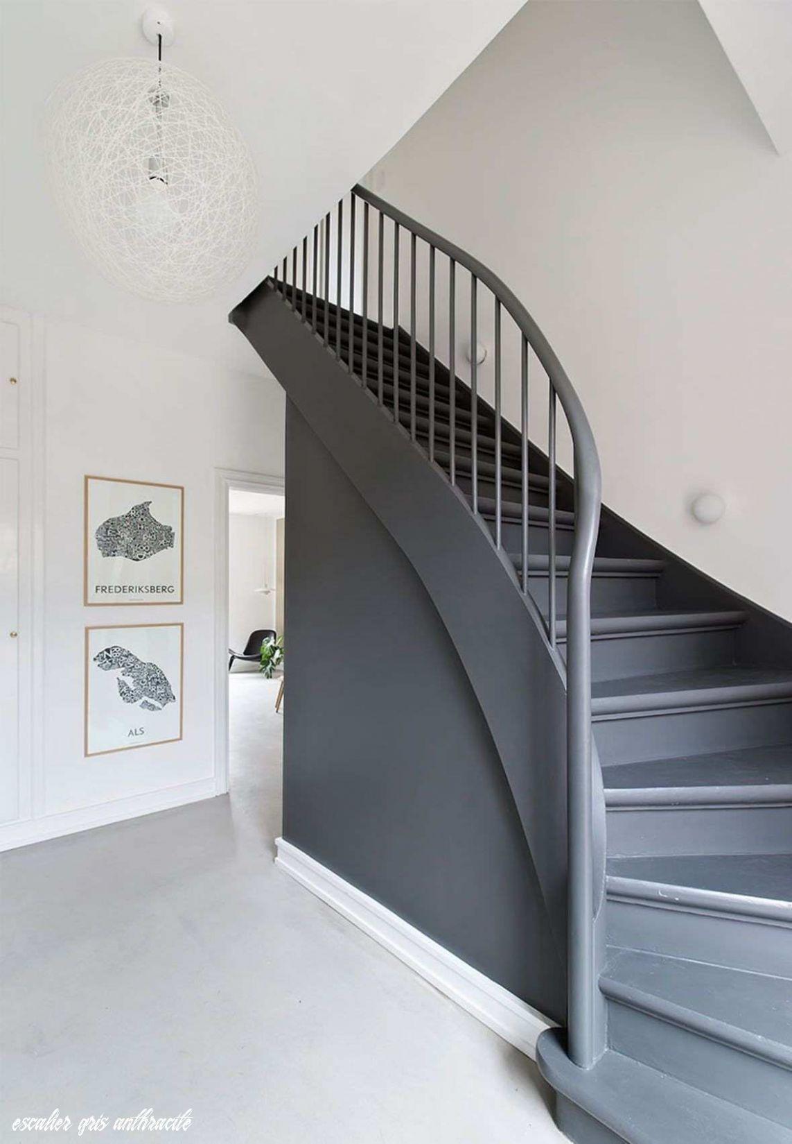 7 Escalier Gris Anthracite En 2020 Escalier Peint Renovation Escalier Bois Repeindre Escalier