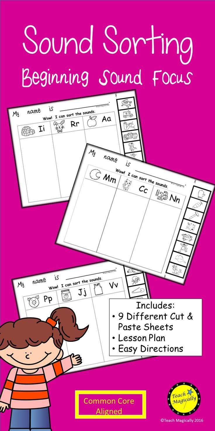 Beginning Sounds Cut and Paste Worksheets No Prep   Pinterest   Kind