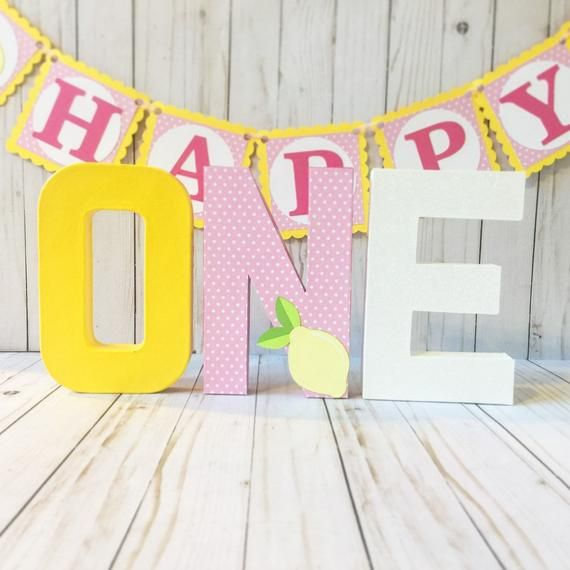 Pink lemonade party, Pink lemonade birthday, Block numbers, First Birthday Photo Prop, Pink Lemonade centerpiece, First birthday