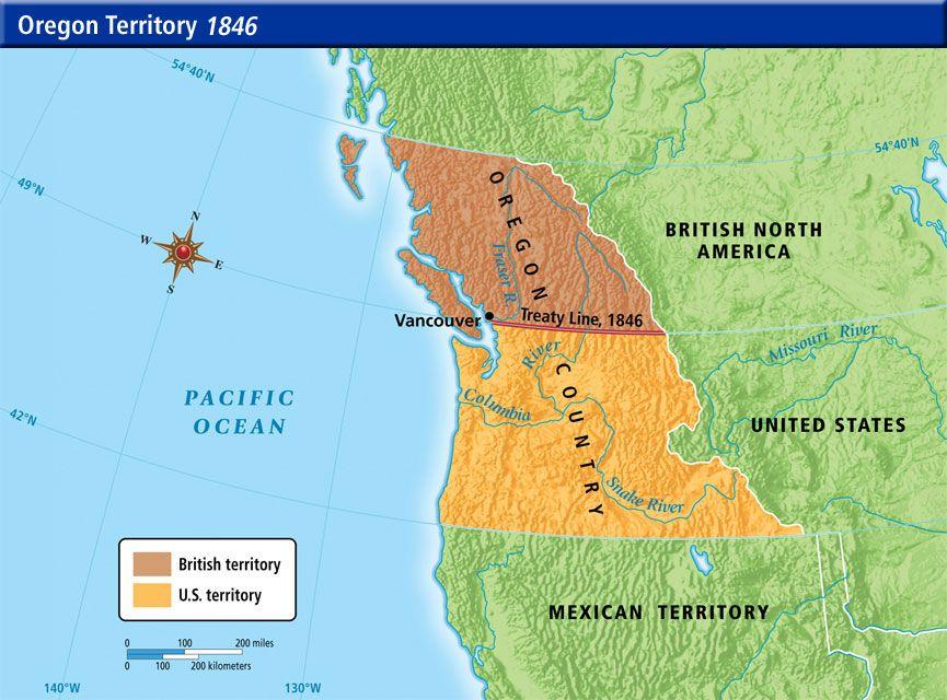 Map Of America Oregon.1846 Oregon Territory 1820 1860 Antebellum America Maps