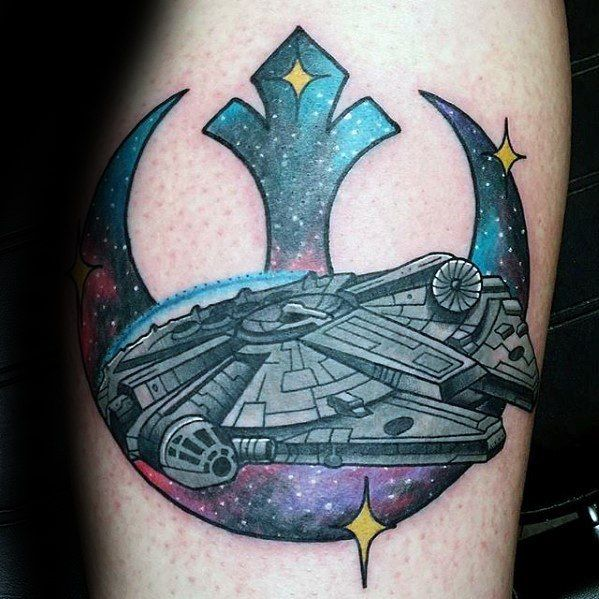 e11808f91 50 Millennium Falcon Tattoo Designs For Men - Star Wars Ideas | Star ...