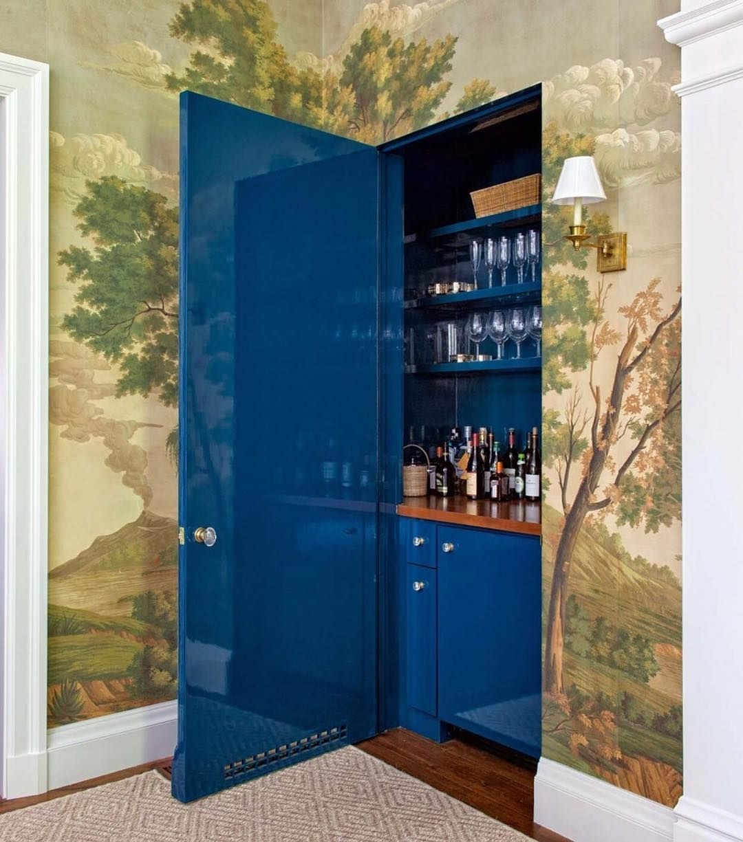 No entertainer\'s home is complete without a well-stocked bar ...